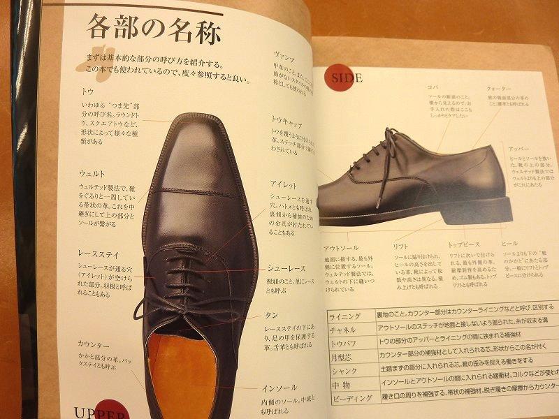 紳士靴の各部名称や紳士靴の種類